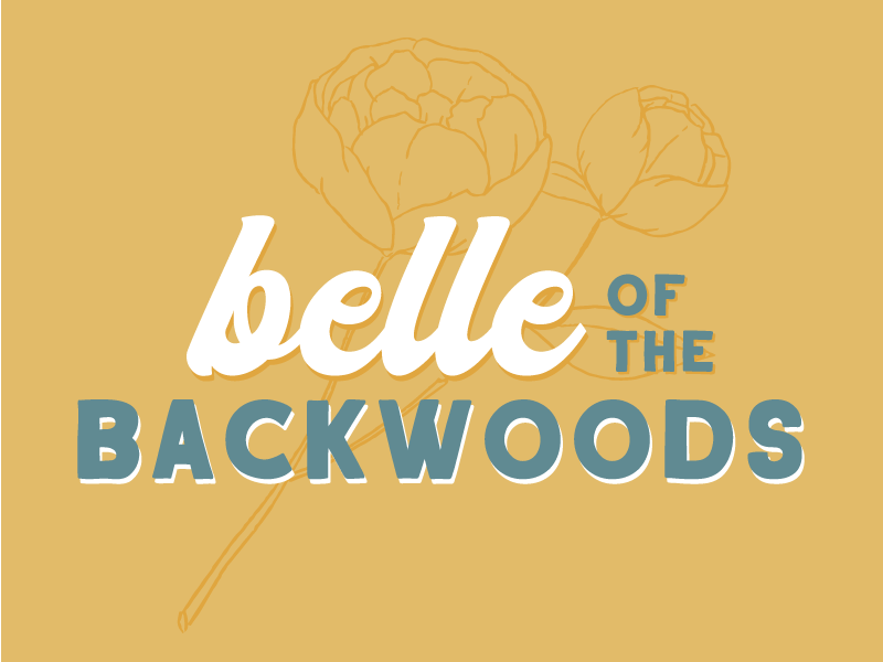Belle of the Backwoods typography vector illustrator illustration design country western