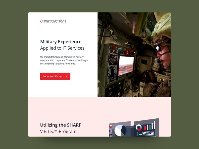 Military in Tech Website Exploration landing page website concept website military web  design