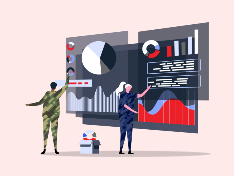 Military in Tech Illustration