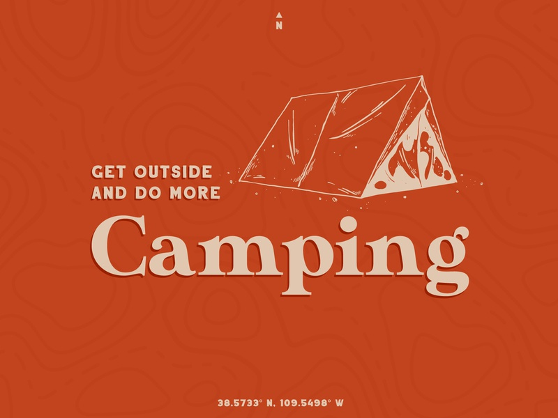 2020 Resolution outdoors camping vector illustration illustrator typography