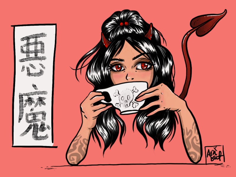 Sweet Devil devil manga japanese art procreate drawing illustration