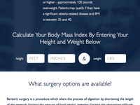 Bariatric Surgery BMI Calculator