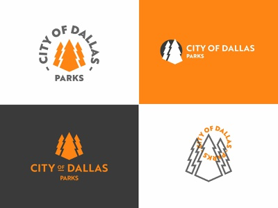 Dallas Parks logos parks and rec parks hike outside trees tree typography branding fashion earth illustration logo icon outdoors