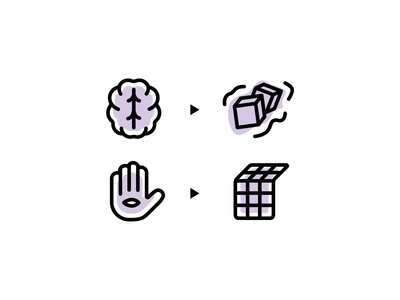 Mind control icon set progress