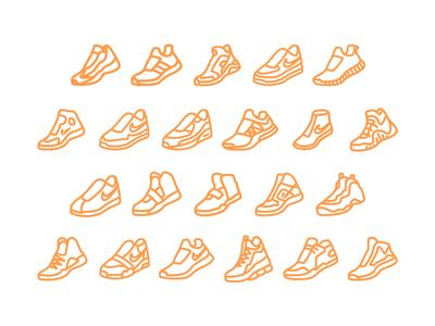 Shoe icon progress