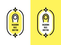 Ingrown nail doctor logo concept