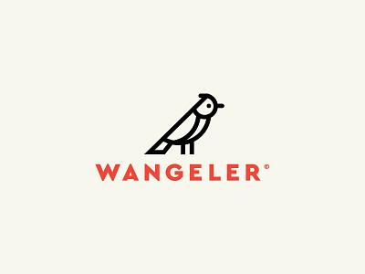 Logo Wangeler graphisme suisse swiss brand logo icon oiseau bird