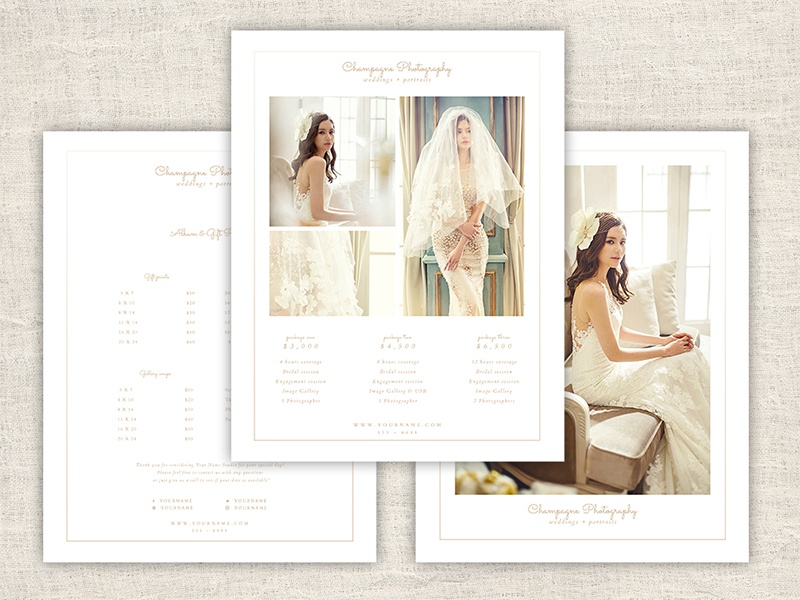 Minimal Wedding Photography Pricing Guide Template By Sandra The