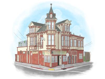 Corner Store Illustration