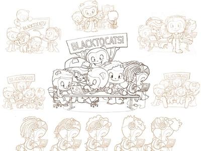 Blacktocats process sketches