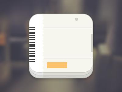 Train Ticket App Icon app travel rail ticket train flat icon draft