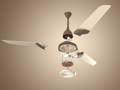Polycab Tryst Fan rendering modelling fan electronic electric designing design graphic design branding animation