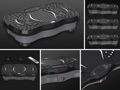 VR Massager - Product Rendering pain foot exercise fitness massager modelling electronic electric design designing branding