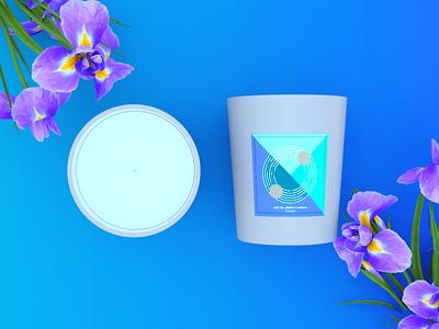 Comet Candle - Product Rendering rendering logo modelling designing design branding leaves saffron aroma candle