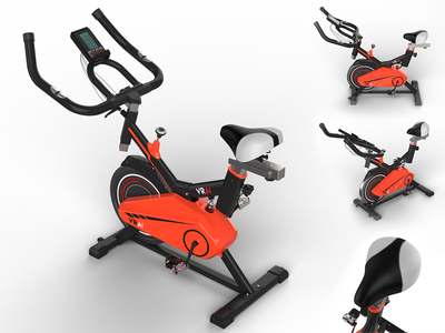 VR Cycling - Product Rendering electronic logo rendering modelling designing design branding weight massager gym exercise cycling cycle