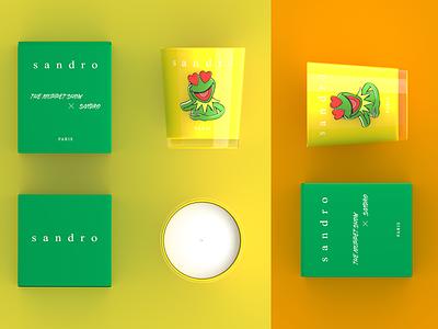 PARIS Sandro Candle - Product Rendering rendering modelling designing design branding sandro paris aroma candle