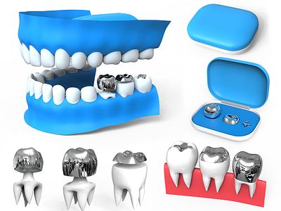 Tooth Capping - Product Packaging & Rendering rendering modelling designing design branding dental healt doctor tooth teeth