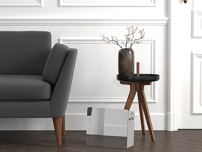 ISENCE Diffuser Mat - Designing & Branding aroma diffuser electronic rendering modelling designing design branding