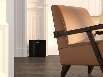 ISENCE HAVI Diffuser - Product Rendering diffuser electric electronic rendering modelling designing design branding