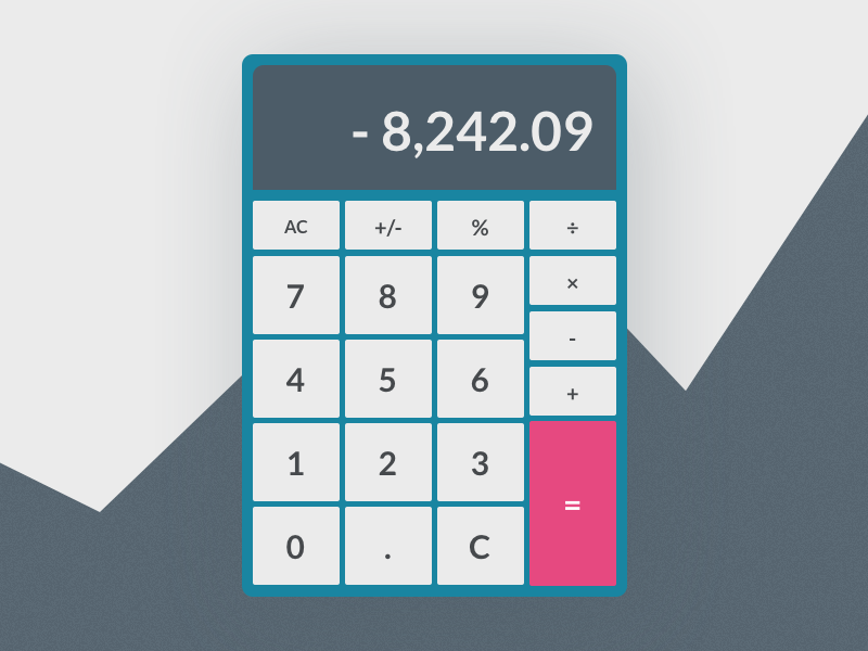 Daily UI 004/100 - Calculator calculator dailyui