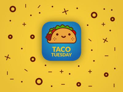 Daily UI 005/100 - App icon kawaii taco icon app icon app dailyui