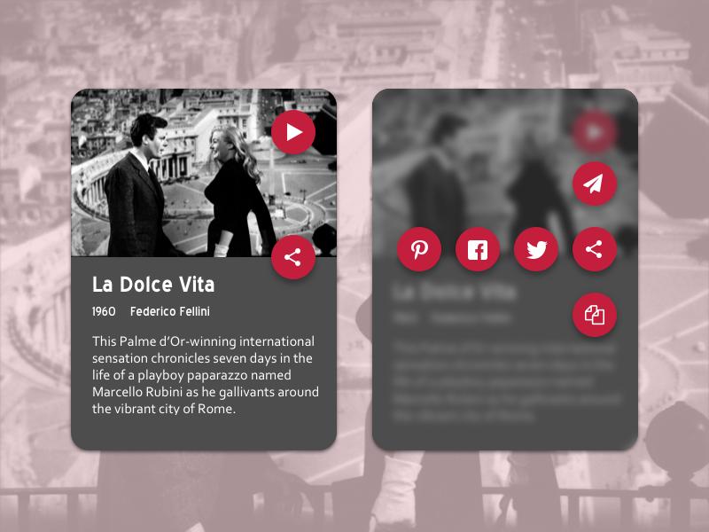 Daily UI 010/100 - Social Share film mobile share dailyui social share