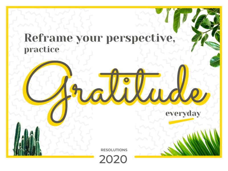 Resolutions 2020 typogaphy
