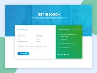 Contact Us Page UI