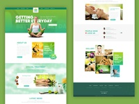 Naturals Massage Parlour Home Page Design