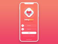 Dating App Login Screen