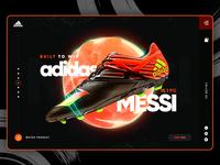 Adidas Messi Landing Page