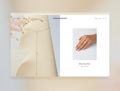Sofija Jewelry — Website design consulting typeface minimal jewelry website branding logo identity fashion
