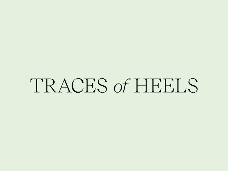 Traces of Heels — Logo naming typeface branding shoes fashion logo