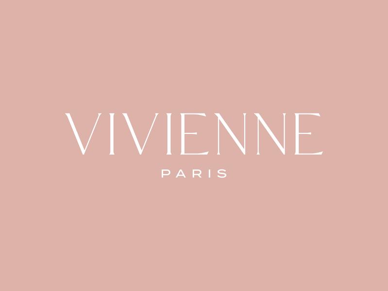Vivienne — Logo typeface old rose identity fashion paris branding bridal logo