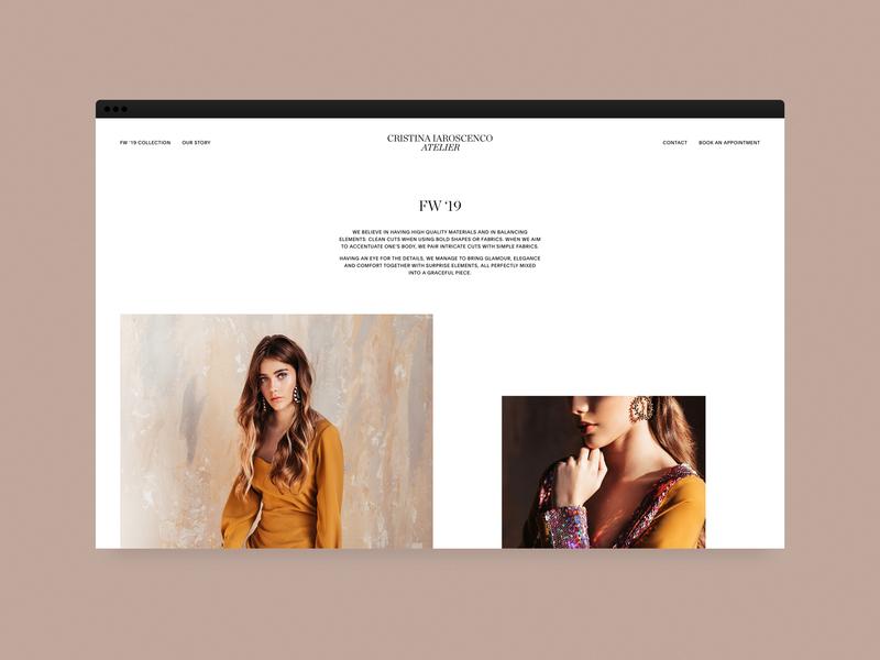 Cristina Iaroscenco — Website minimal wordpress website bridal typeface identity logo fashion branding