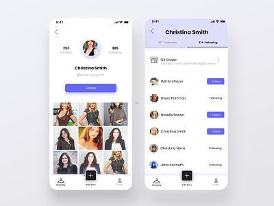 User Profile - Fashion App vote fashion mobile fashion style vote fashion app fashion design minimal mobile ux interaction ui
