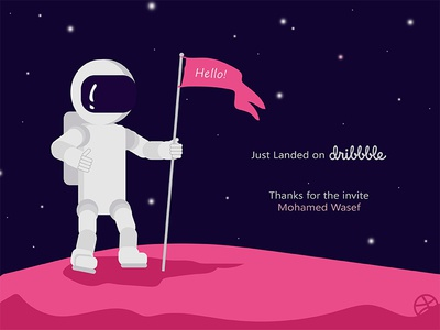 Hello! - Just Landed on Dribbble ! My First Shot