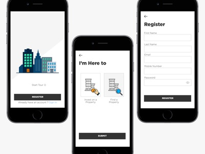 Real Estate Mobile App Concept Design