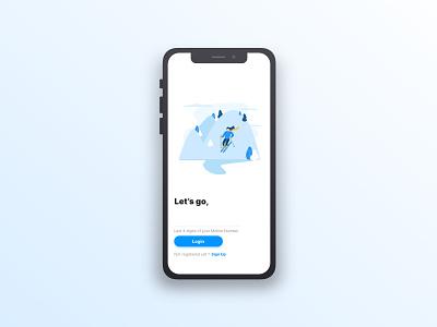 Login Page design ux design product design login with mobile verification white illustration landing minimal interaction design login screen ui ux sketch xd adventure app mobile login