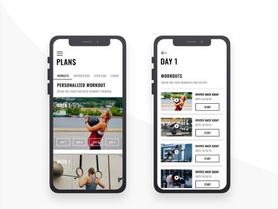 Fitness App - Workout Plan mobile app minimal interaction uiux uxdesign mobile ui fitness app fitness