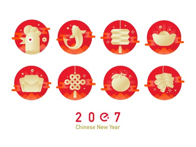 Chinese New Year chinese new year red icon eleme
