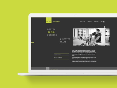Urban Group website web homepage ui design