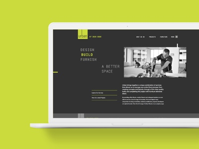 Urban Group website web homepage ui design