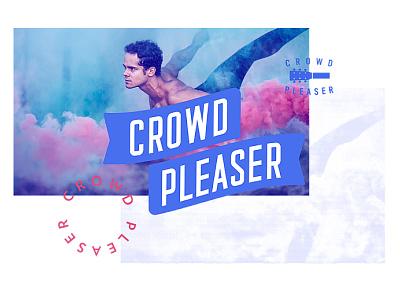 Crowdpleaser logo identity idea circle brandmark brandlogo brand
