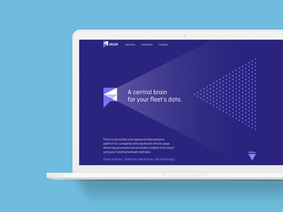 Prism creative identity brandmark website web homepage ui logo design branding ux