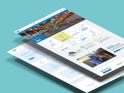 Emroware wireframe identity design website web homepage ui ux