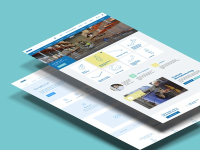 Emroware wireframe identity design website web homepage ui ux
