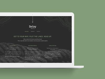 Belay Advisory Website branking invest icon logo branding identity design website web homepage ui ux