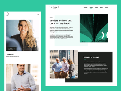 Helix Website homepage typography design thinking branding brand web website ux identity ui logo design