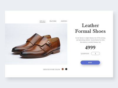 Leather formal shoes  Product Page